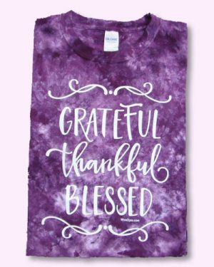 GRATEFUL, THANKFUL, BLESSED Christian Tie Dyed T-shirt