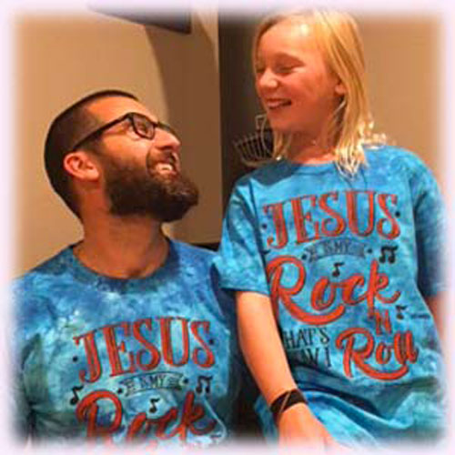 JESUS IS MY ROCK Christian Tie Dyed T-shirt